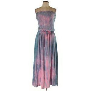 Gypsy 05 tie dye maxi strapless dress